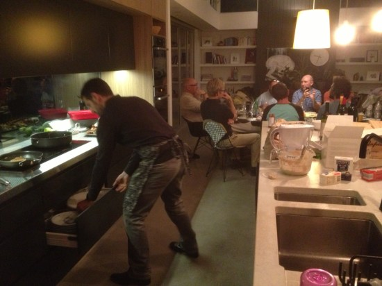 The whipping up of the Peking Duck pancakes