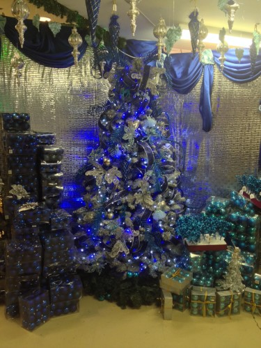 A brilliantly blue tree