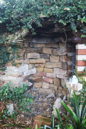 A grotto built by Donna's Lebanese grandfather