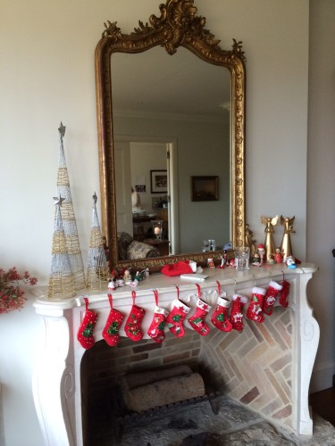 'The stocking's were hung by the chimney with care...'