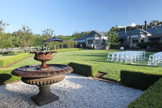 The expansive lawn where a wedding had been held