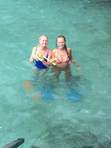 Loving the water and about to go for a snorkel