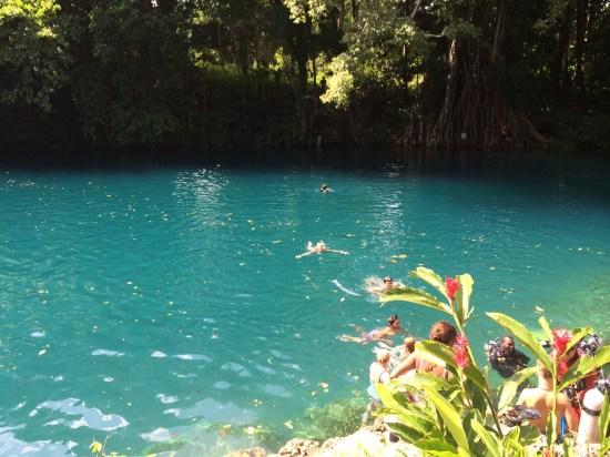 A freshwater swim