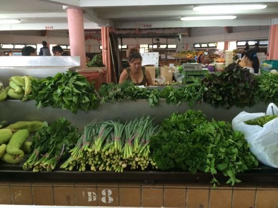 Very fresh produce at the market