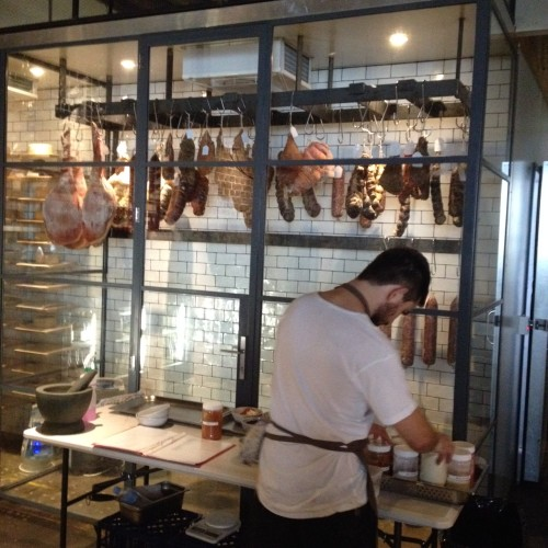 The charcuterie coolroom