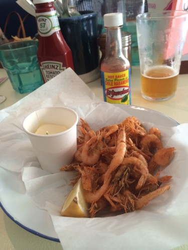 Crispy School Prawns with Aioli and Lemon - $16.00