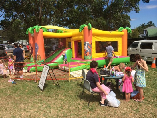 Face-painting and a jumping castle