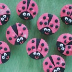 Ladybirds out on the lawn