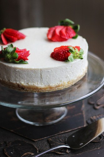 A cheesecake with no cheese