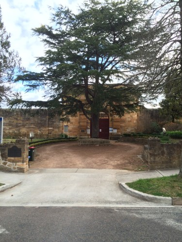 Outside the gates of Berrima Gaol