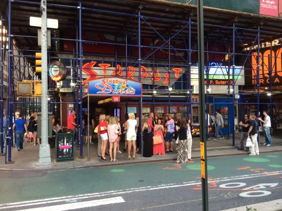 Ellen's Stardust Diner is currently covered in scaffolding