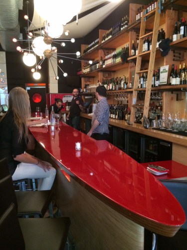 The bar at Amelie