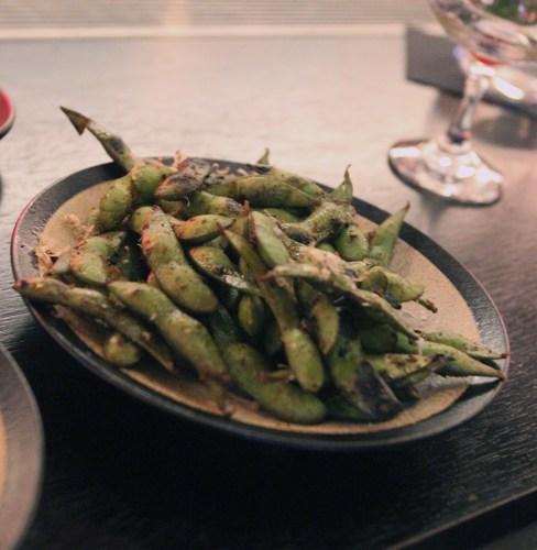 Bar Snacks:  Spiced Edamame