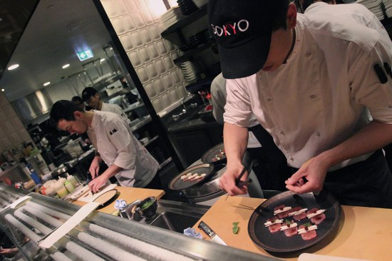The chefs where caps!
