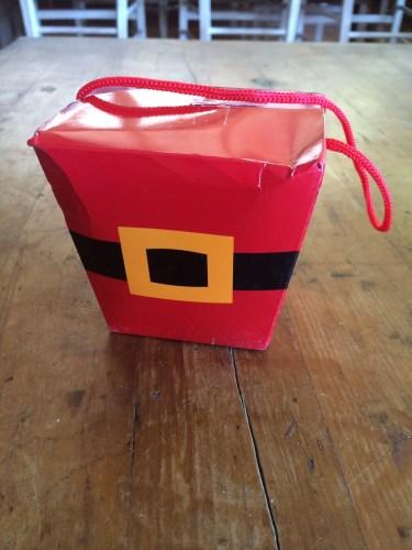 Santa-styled packaging