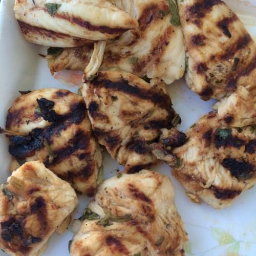 Marinated chicken bites