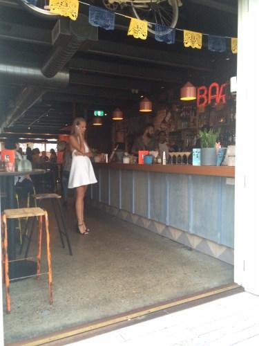 Miss Arabella at the bar