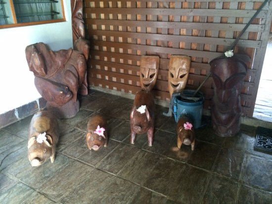 Wooden carvings - I liked the pigs!