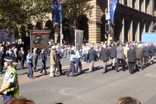 Rounding the corner at Martin Place