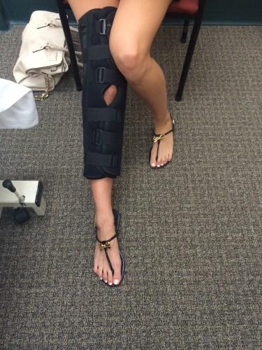 A straight-leg brace