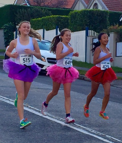 Making it look easy to run in a tutu.