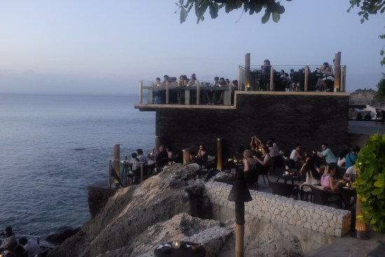The crowds at the Rock Bar