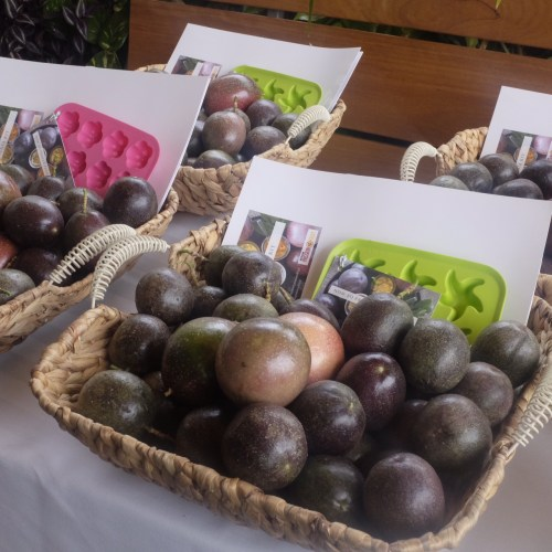 A take home basket of passionfruit