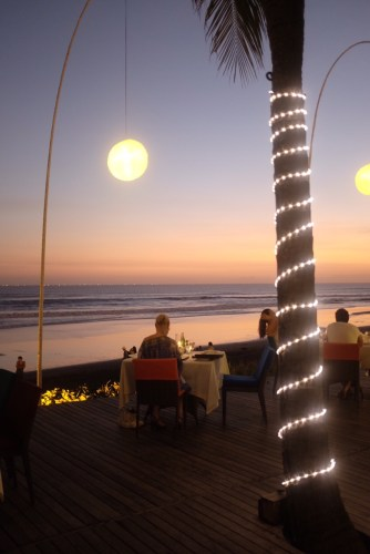 Dining outdoors in Bali