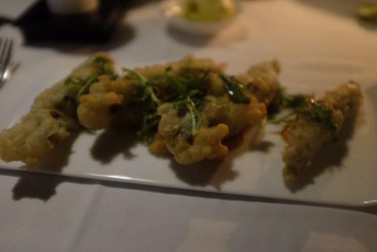Tempura zucchini flowers