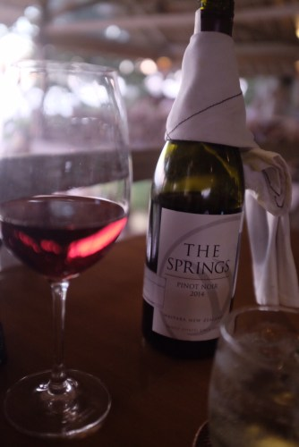 The Springs Pinot Noir from Waipara, New Zealand. About: $61.00