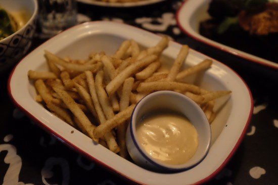 Jerk Fries with Rosie's Jerk Mayo: $8.00