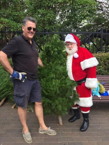 Santa came to visit