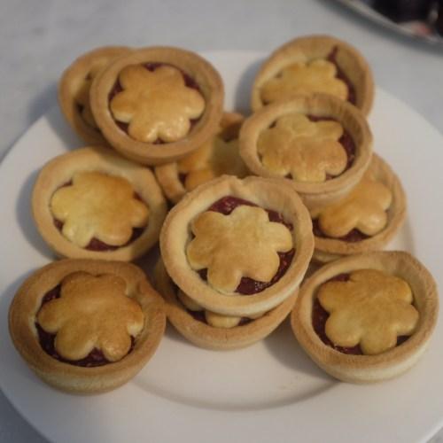 Handmade raspberry mini pies
