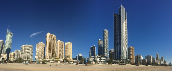 The sky is truly this blue on the Gold Coast