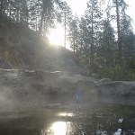 Sunrise Soaking at Skinnydipper Hot Springs