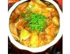 Жаркое из индейки с картофелем в горшочке