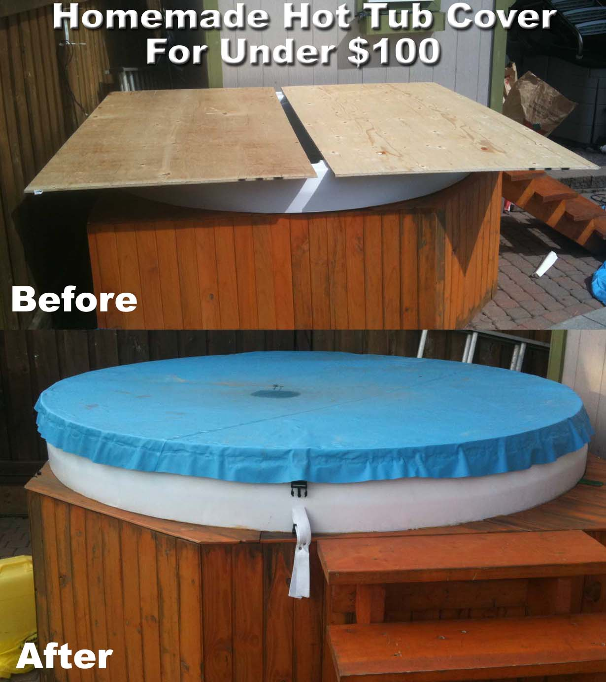 Diy Hot Tub Diy Hot Tub Cover Projects