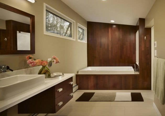 Actual finishing materials and tile in bathroom design 2017 5