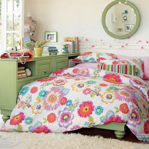 Bright Turquoise Wallpaper For Girls Room Teenage Girl Bedroom Ideas 31 Girl Bedroom Photo