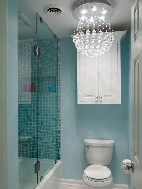 Interior design 2017 ombre bathroom