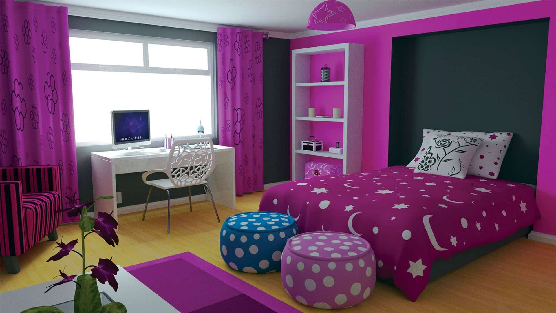 How To Decorate A Small Bedroom For A Teenager Home Decor Trends 2017 Purple Teen Room
