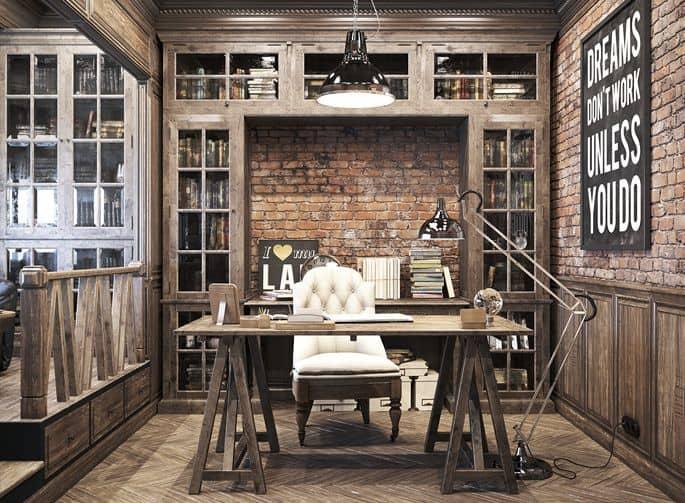 Interior design 2017: Vintage office