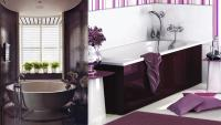 Contemporary bathroom design magic: Purple bathroom ideas