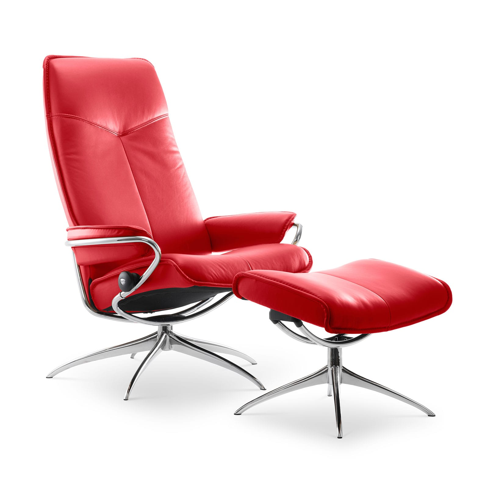 Stressless Sessel Berlin Stressless Sessel City High Back Mit Hocker Chili Red