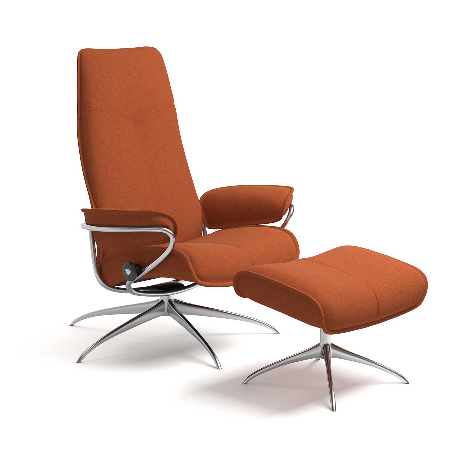 Stressless Sessel Stoff Stressless City High Back Calido Orange Gestell Chrom Mit