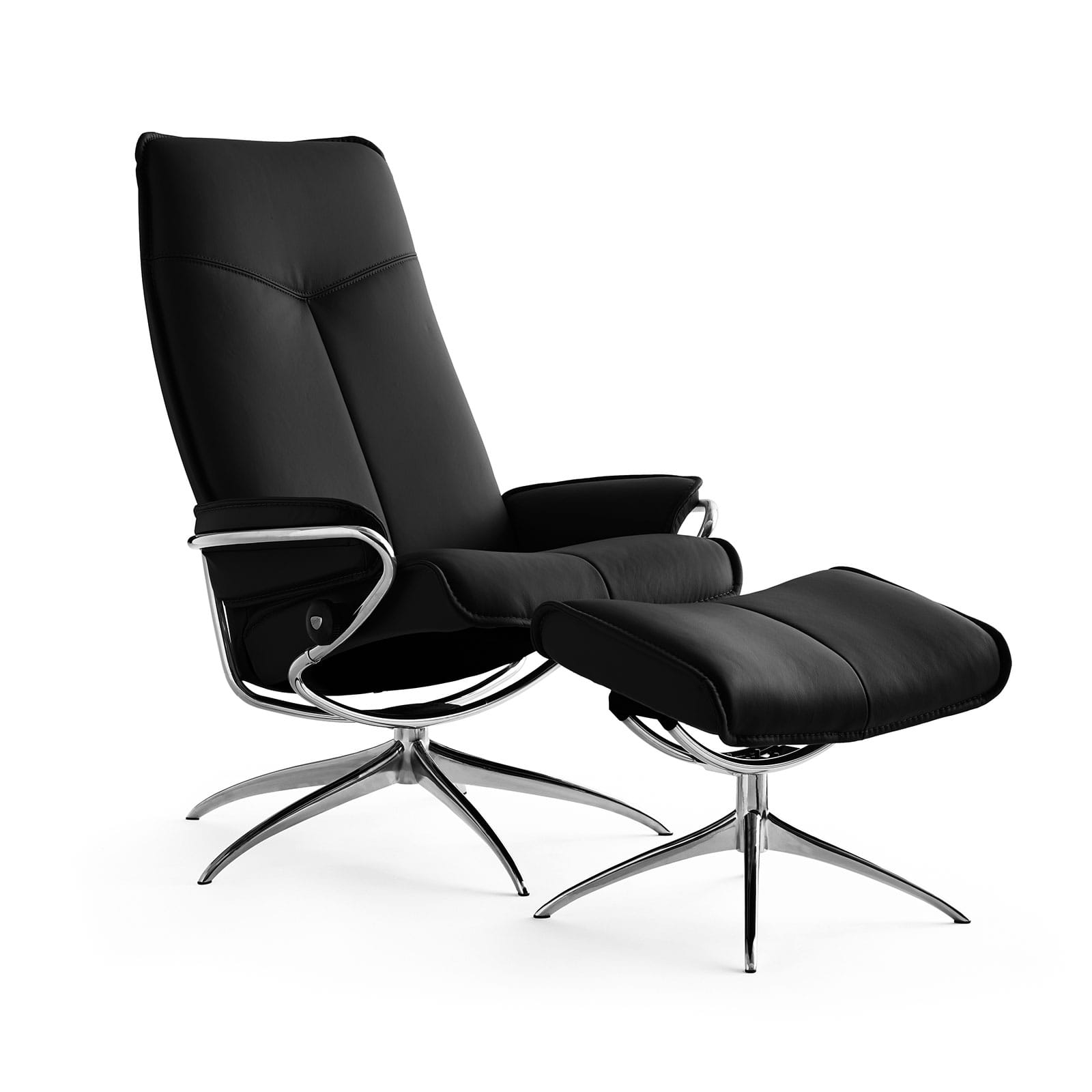 Stressless Sessel City High Back Stressless Sessel City High Back Mit Hocker Black Chrom