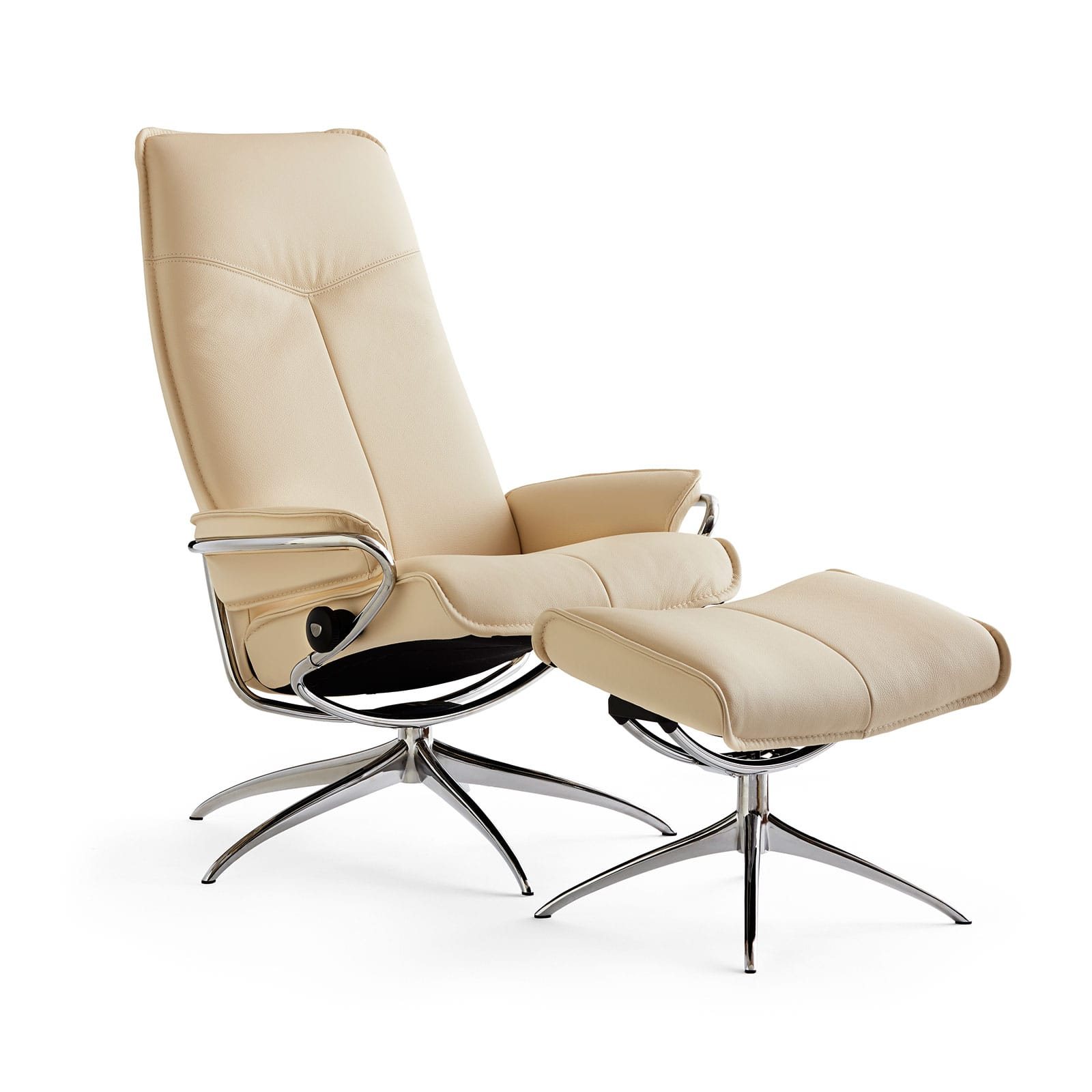 Stressless Sessel City High Back Stressless Sessel City High Back Vanilla Chrom Ohne Hocker