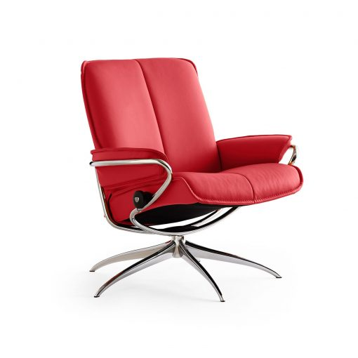 Stressless Consul Test Stressless Sessl City Low Back Batick Chilli Red/chrom