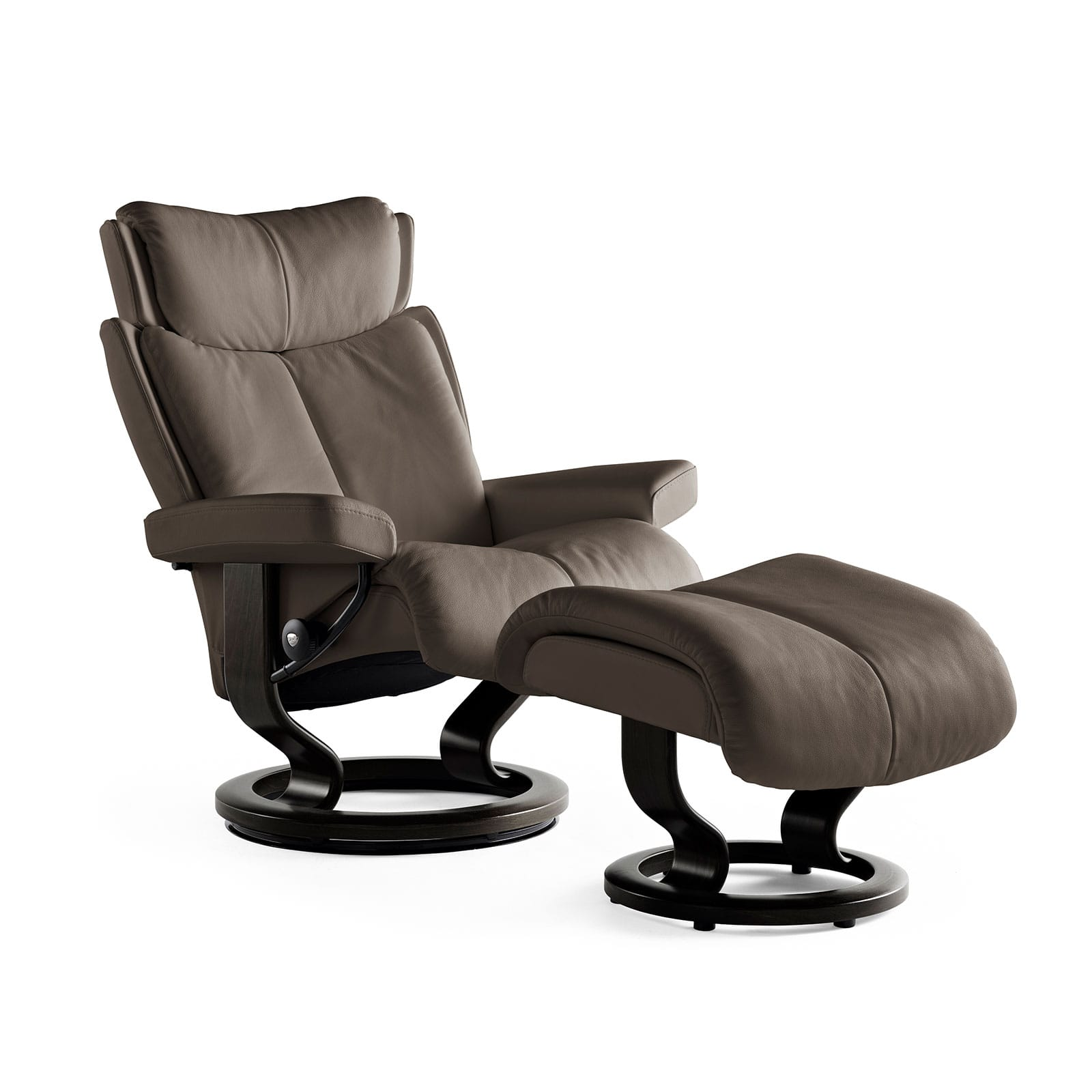 Relaxsessel Stressless Stressless Relaxsessel Magic Lederfarbe Khaki Hocker Stressless