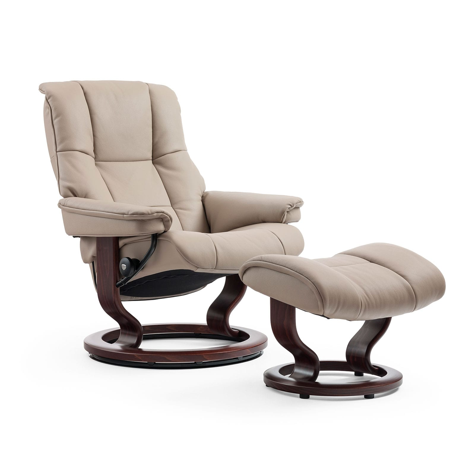 Stressless Sessel Berlin Stressless Sessel Mayfair Cori Beige Classic Braun Hocker